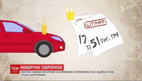 Посилення штрафів та здорожчання цін: що нового 2020 рік готує для українців