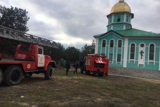 У Херсонській області загорілася церква. Прихожани підозрюють підпал