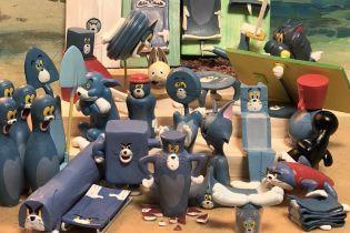 """Том-утюг или Том-ваза: японский художник лепит фигурки из забавных моментов """"Тома и Джерри"""""""