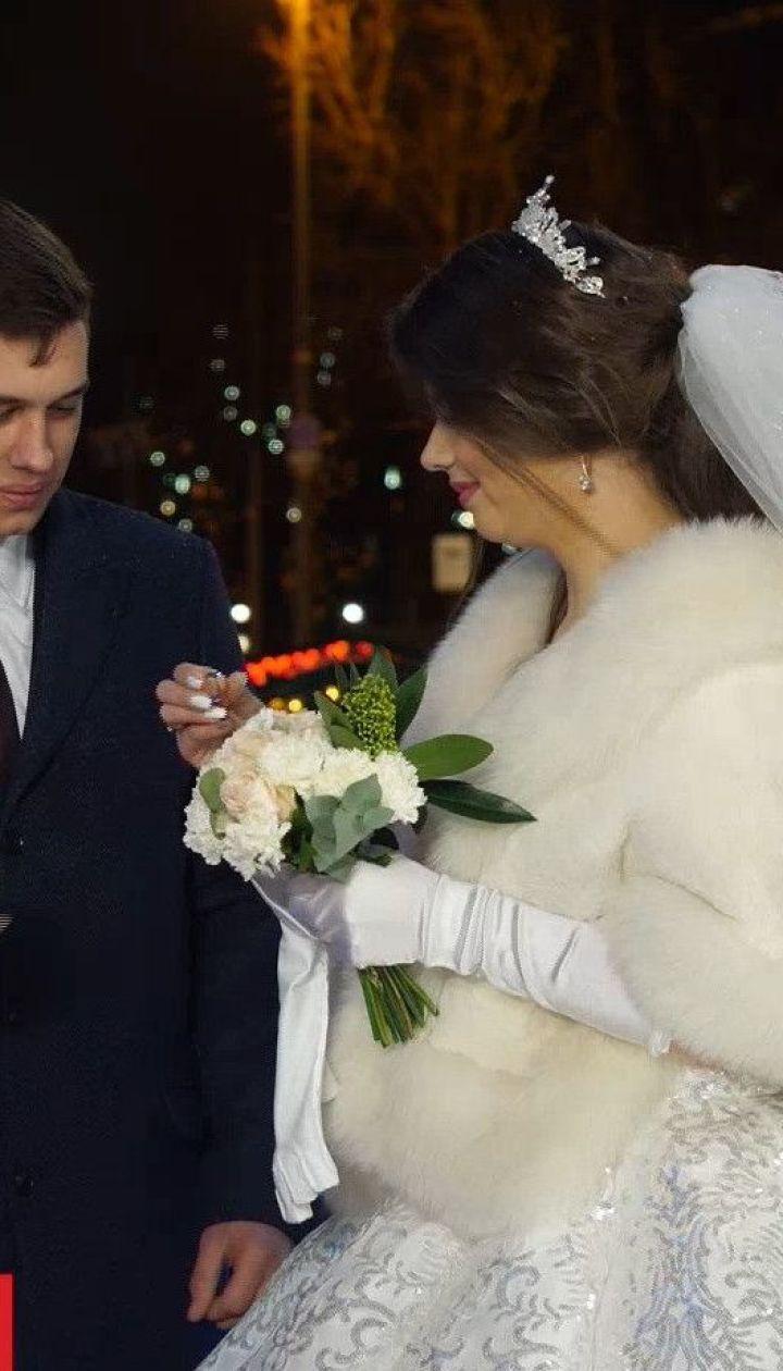 Урочиста церемонія: в центрі столиці одружилися Андрій Ейдер та його наречена Марина