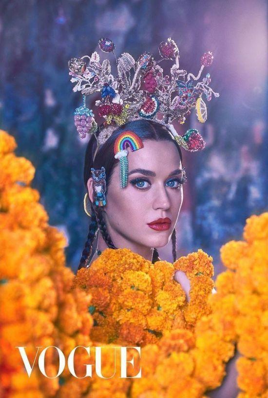 Обсипана чорнобривцями Кеті Перрі знялась для індійського Vogue