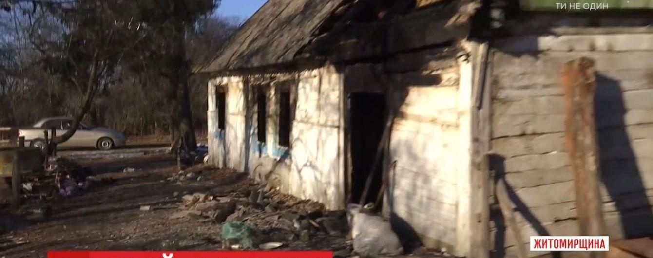На Житомирщині школяр врятував з охопленої вогнем хати 88-річну жінку