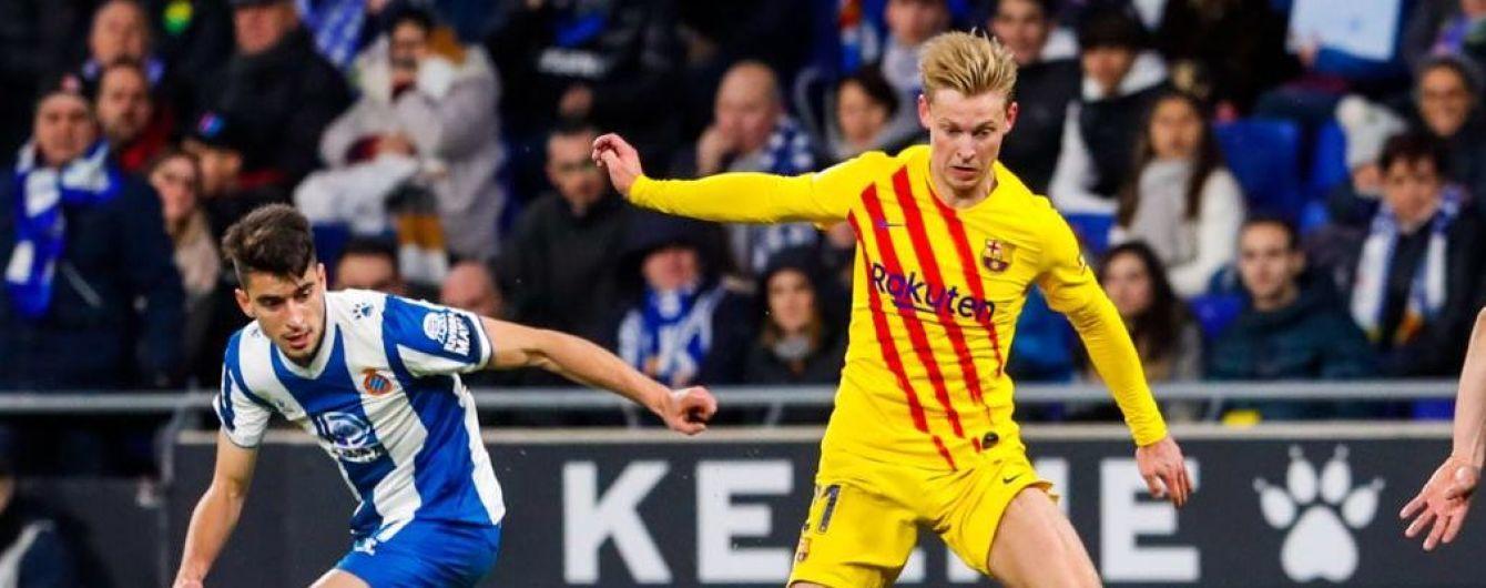"""""""Барселона"""" потеряла очки в матче с аутсайдером Ла Лиги, де Йонг получил красную"""