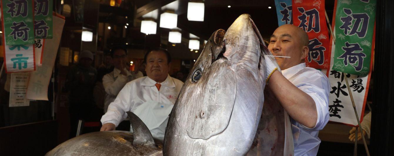 На японському аукціоні продали блакитного тунця за 1,8 млн доларів