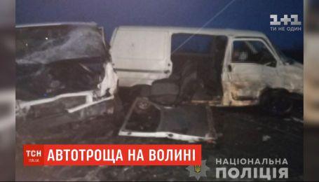 Два микроавтобуса столкнулись на Волыни: два человека погибли