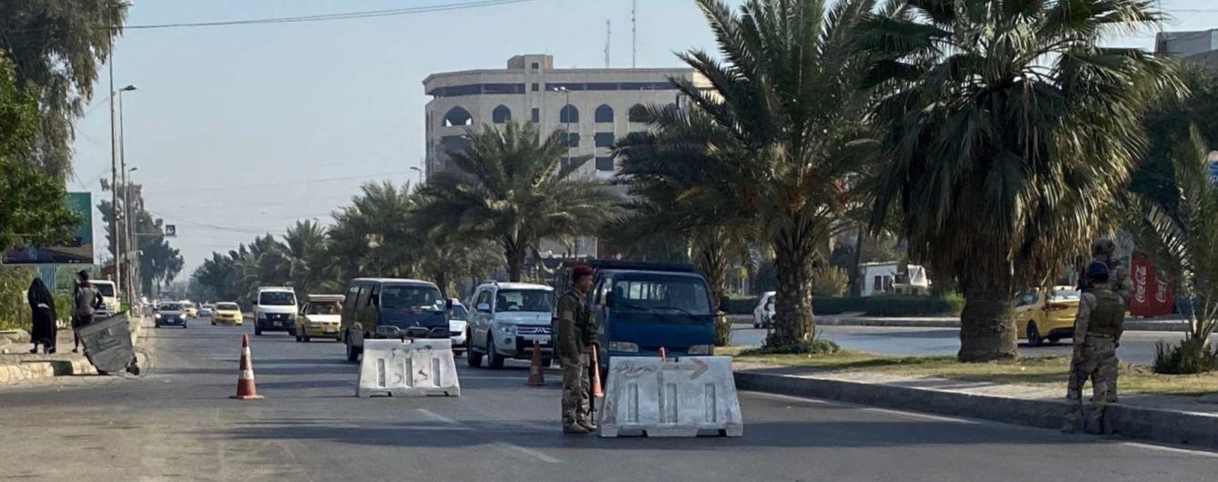 Возле посольства США в Багдаде упало две ракеты