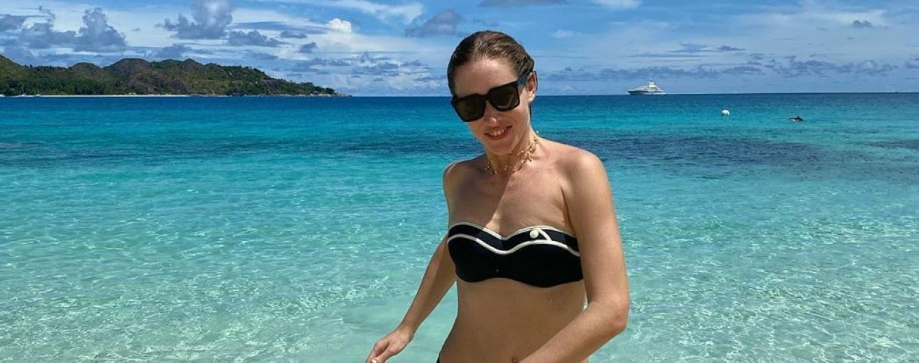 Отдыхает на Сейшелах: Катя Осадчая в бикини продемонстрировала стройную фигуру