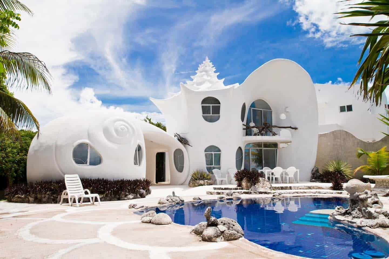 будинок-мушля, Мексика
