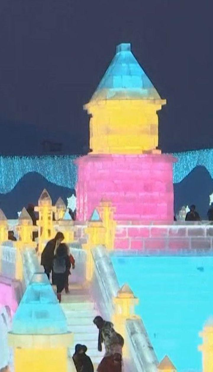 Холодная красота: в китайском Харбине открылся фестиваль ледяных скульптур
