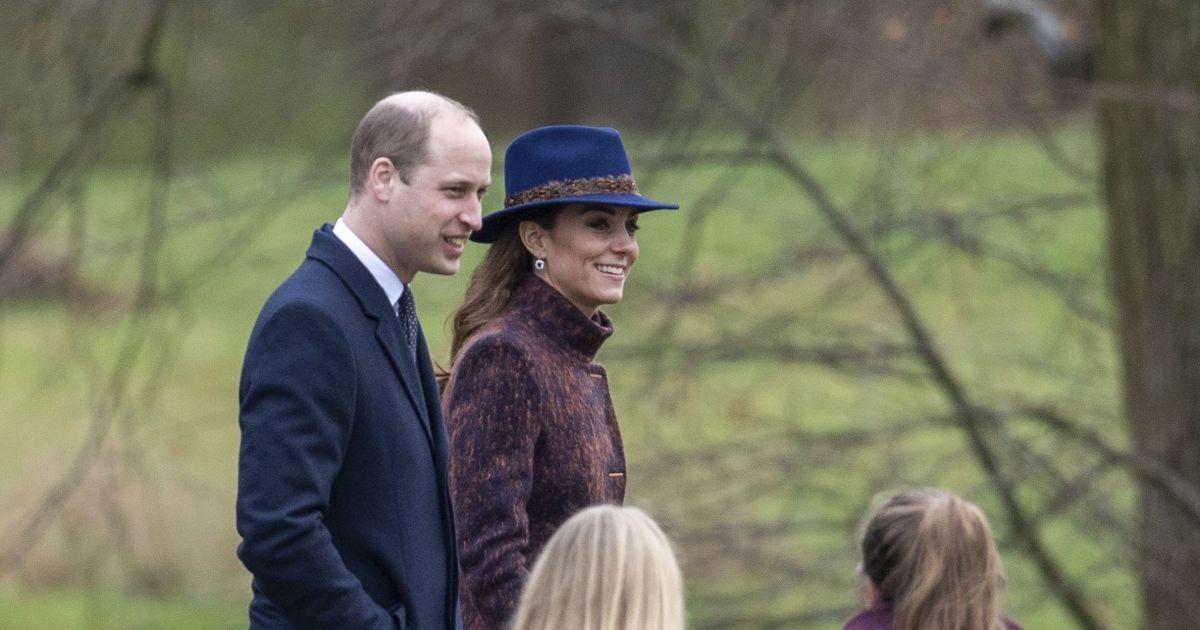Принц Уильям и Кейт в шляпе и пальто осуществили первый в этом году публичный выход