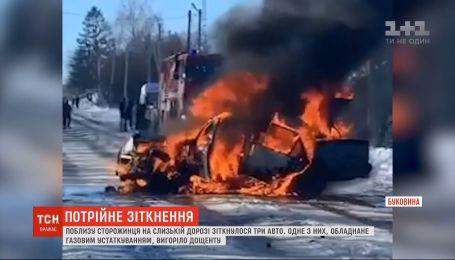 Четверо людей - серед них дитина - травмувалися в аварії на Буковині