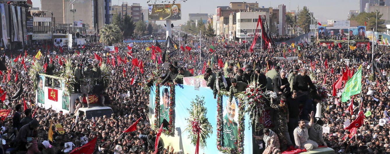 Количество погибших во время похорон генерала Сулеймани в Иране достигло 56 человек