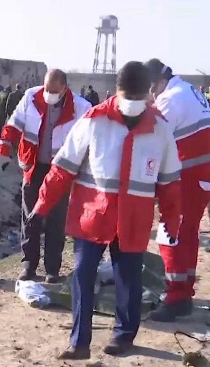 Крушение в Тегеране: что происходит на месте падения