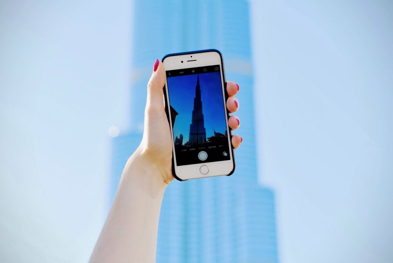 Дубай, селфи, смартфон