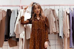 У світло-шоколадній сукні і з яскравим манікюром: новий аутфіт Наді Дорофєєвої