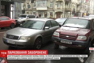 19 центральных улиц Киева с 9 декабря снова ограничены для парковки