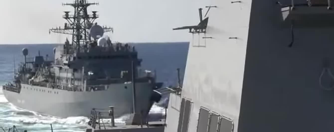 """""""Агресивний"""" російський військовий корабель ледь не спричинив зіткнення з американським - Пентагон"""