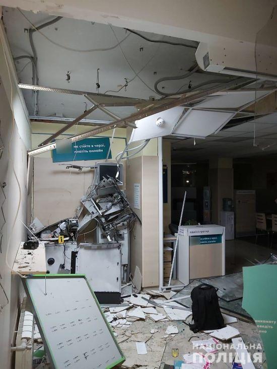 """У Харкові невідомі підірвали банкомат у відділенні """"Ощадбанку"""""""