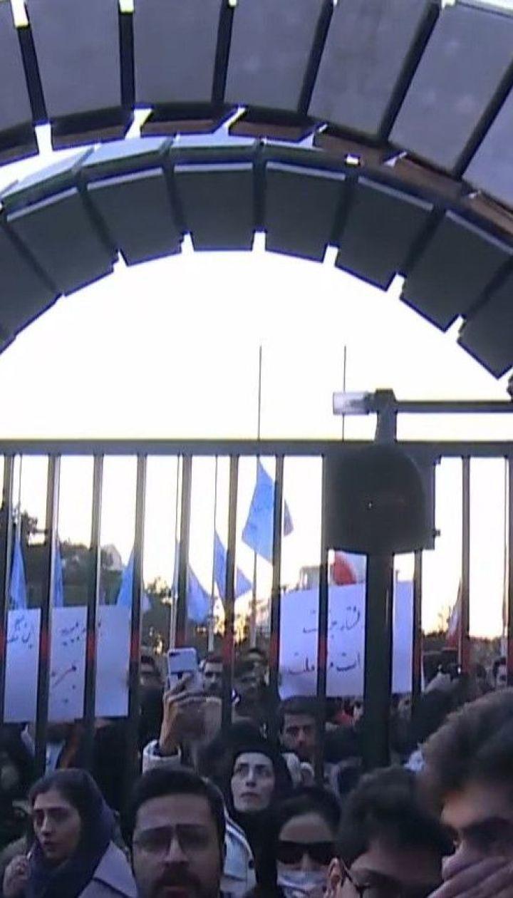 """Иранцы массово протестуют в знак возмущения из-за сбитого украинского """"Боинга"""""""