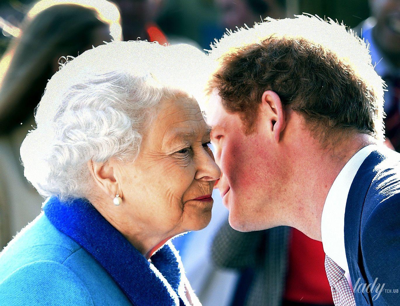 Принц Гарри и королева Елизавета II_2