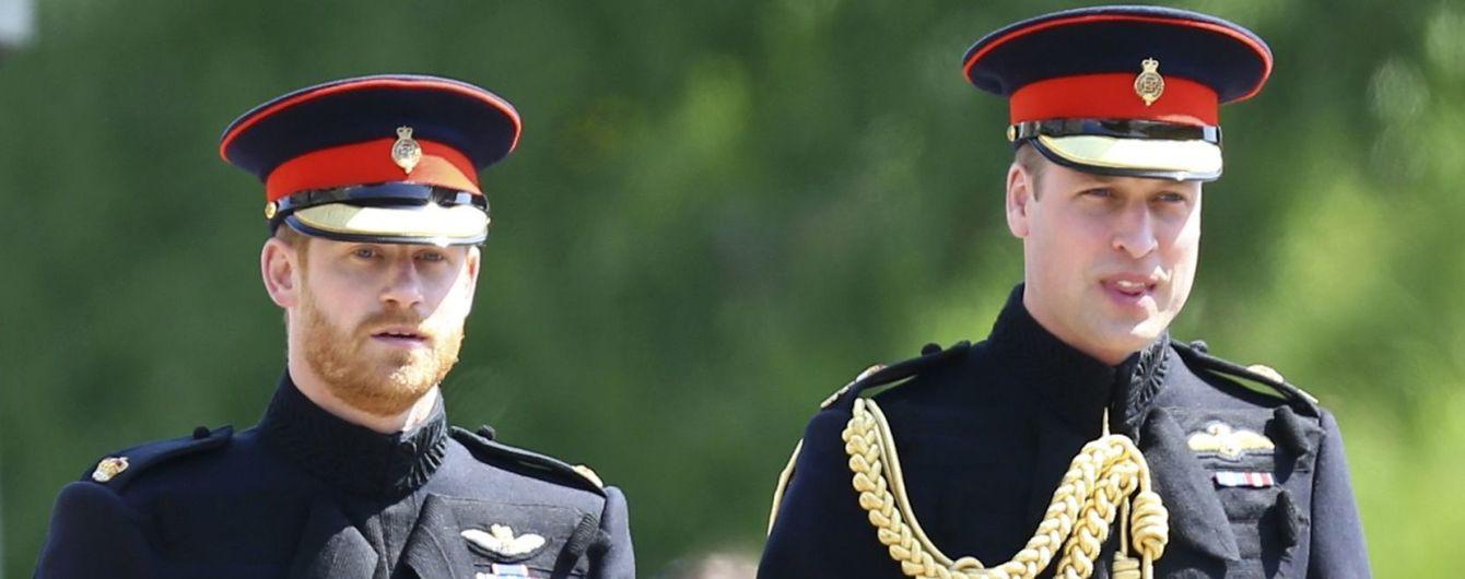 Принци Гаррі та Вільям відреагували на інформацію про їхні зіпсовані стосунки
