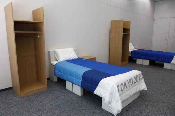 еко ліжка олімпіада-2020, ліжка з картону_1