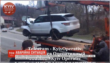 В Киеве работники СТО напились и разбили дорогой внедорожник клиента