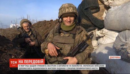 В Марьинке ежедневно продолжаются обстрелы из автоматов и пулеметов