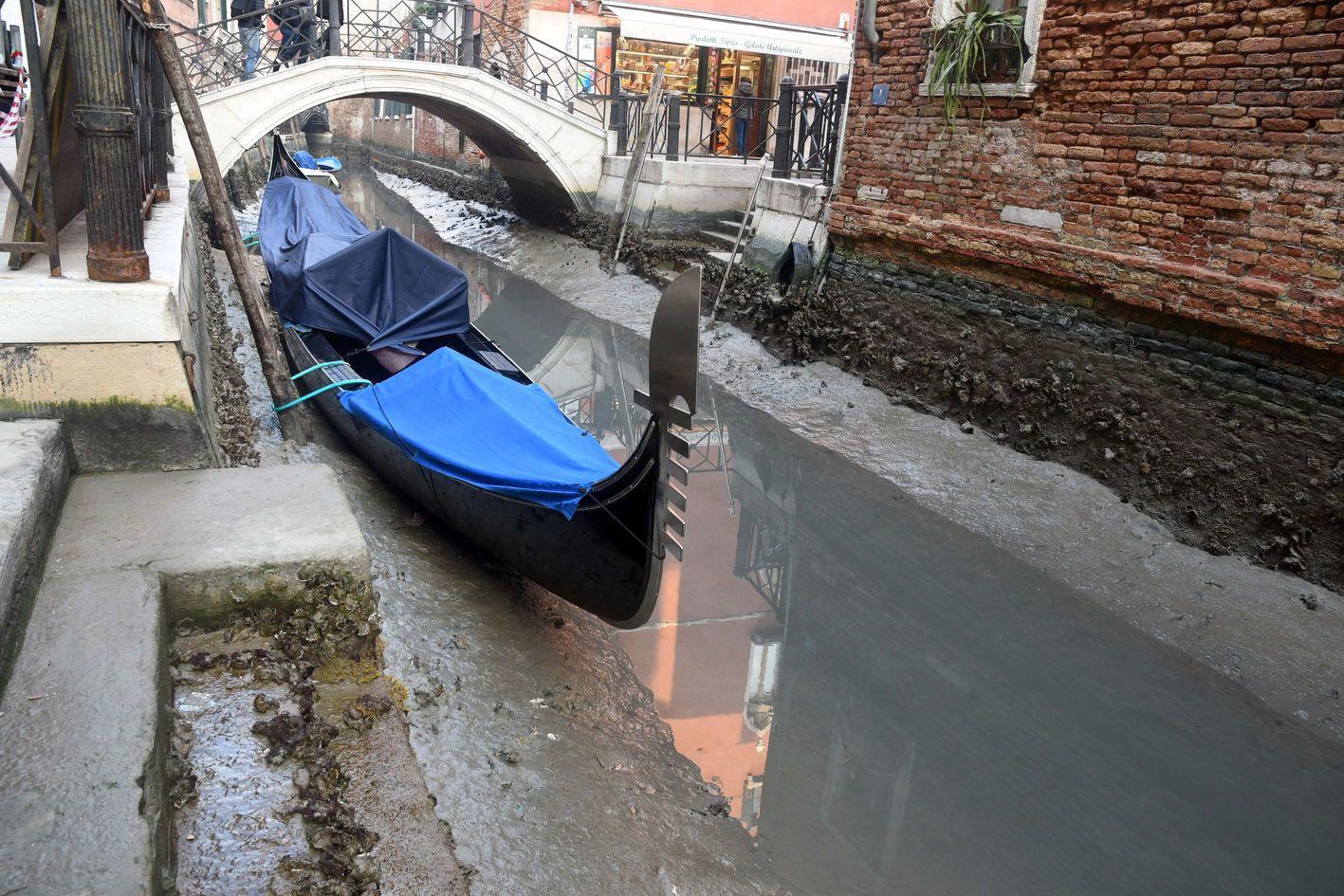 Венеция, пересохли каналы