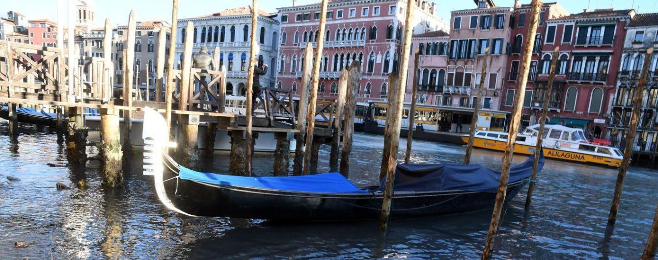 В Венеции пересохли каналы