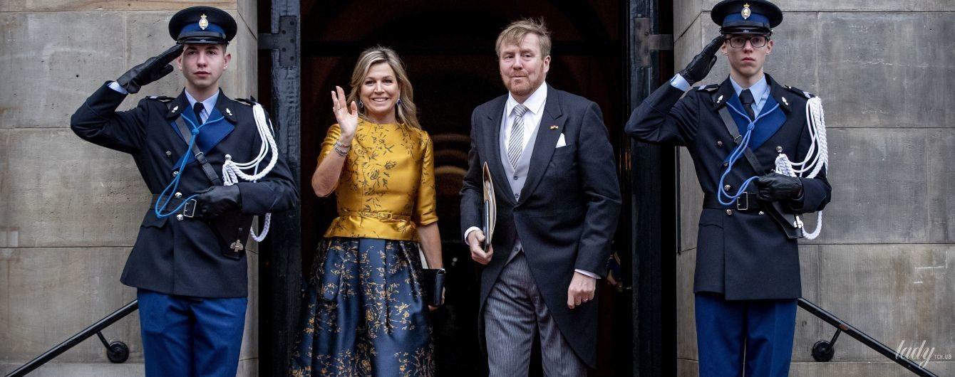 Ах, яка красуня: королева Максима в новому квітковому луці прибула на прийом