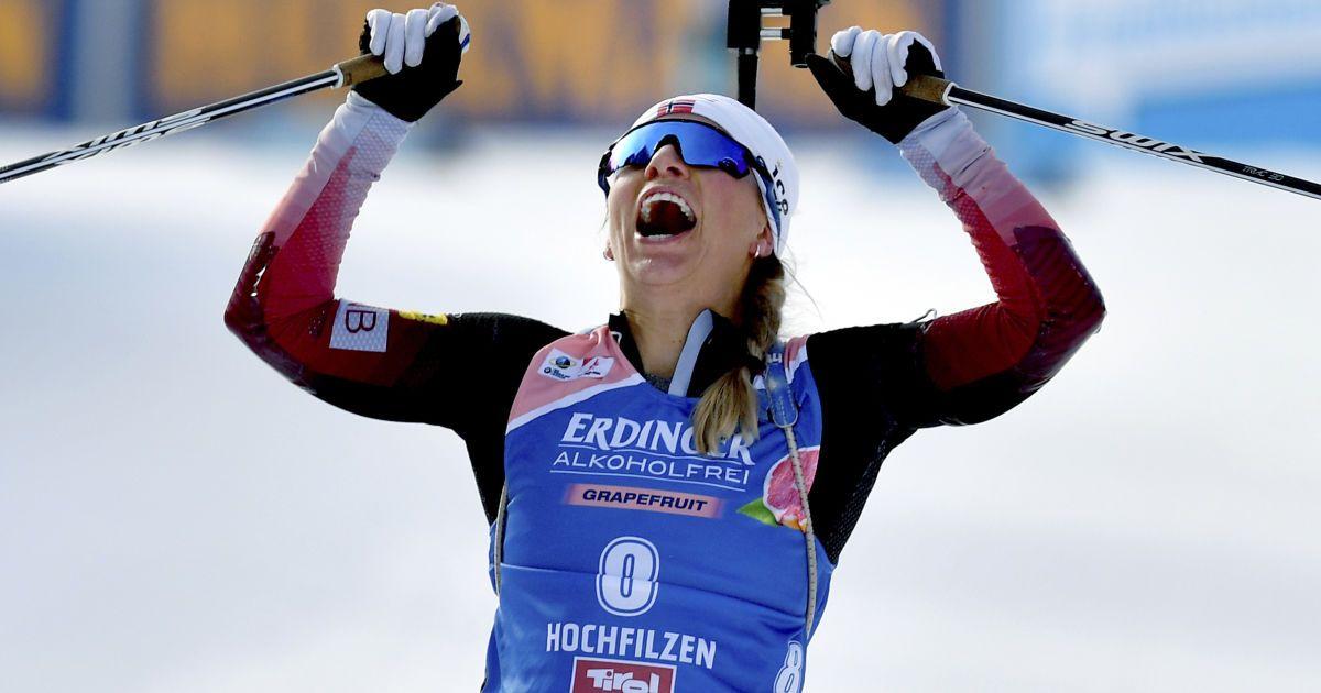 Норвежка Екгофф зробила золотий дубль на Кубку світу з біатлону в Обергофі, українка Джима — в топ-15