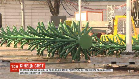 Рождественский городок на Софийской площади прекратил свою работу