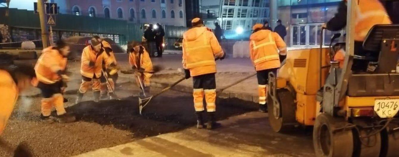 Прорыв теплотрассы возле Ocean Plaza: в КГГА отчитались об окончании ремонта и восстановлении движения