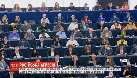 Російська окупація Східної України ще триває, а Мінські угоди не були виконані - Європарламент
