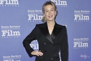 В смокинге и на шпильках: Рене Зеллвегер на кинофестивале в Санта-Барбаре
