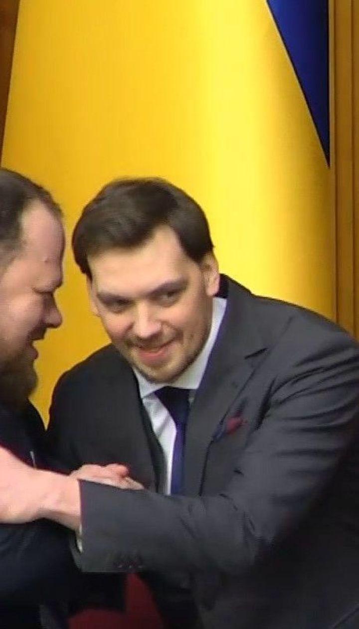 Пока заявления на увольнение Гончарука нет в парламенте, отставка - это просто слова - нардепы