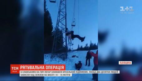 В Славском на горнолыжной базе сломался подъемник с людьми, продолжается спасательная операция