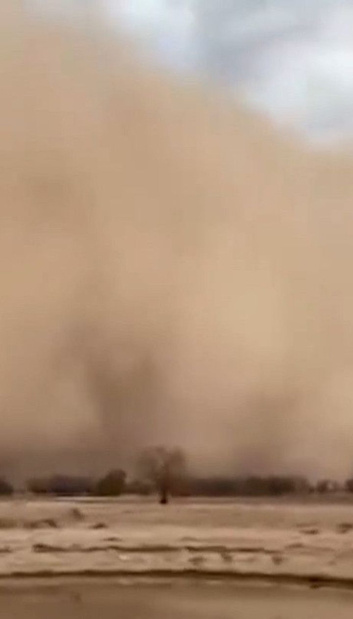 Австралию после лесных пожаров накрыли пылевые бури и мощный град