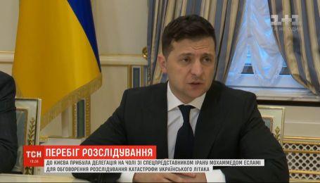 """Зеленський вимагає від Ірану ефективного розслідування катастрофи """"Боїнга"""" МАУ"""