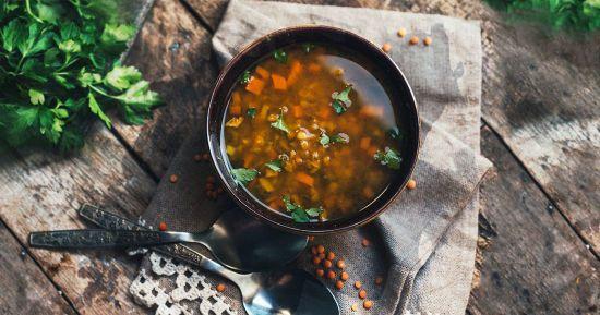 Суп з сочевиці з овочами