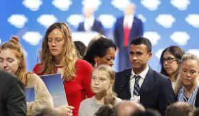 Ґрета vs Трамп. Екоактивістка покинула форум у Давосі після появи президента США