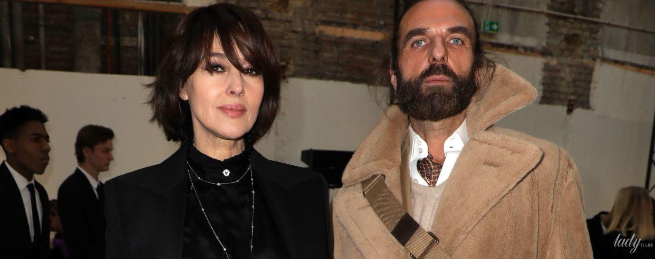 Элегантная Моника Беллуччи в компании известного француза посетила модное шоу