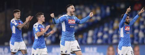 """Два удаления и неудачный пенальти. """"Наполи"""" одолел """"Лацио"""" и стал первым полуфиналистом Кубка Италии"""