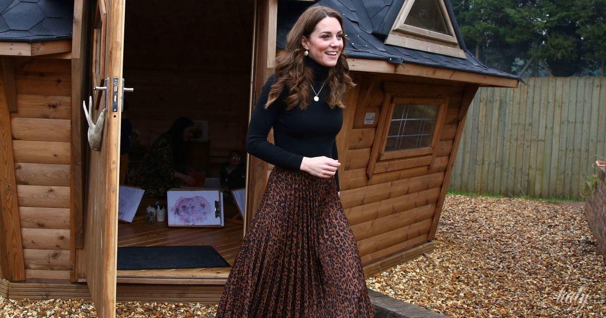 Несподіваний вибір: герцогиня Кембриджська одягла на захід спідницю від Zara в леопардовий принт