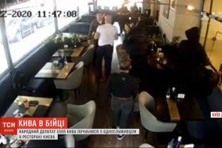 Нардеп від ОПЗЖ Ілля Кива влаштував бійку із ветераном АТО у ресторані на Хрещатику
