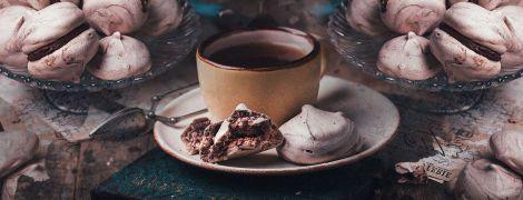 Шоколадные меренги с кремом