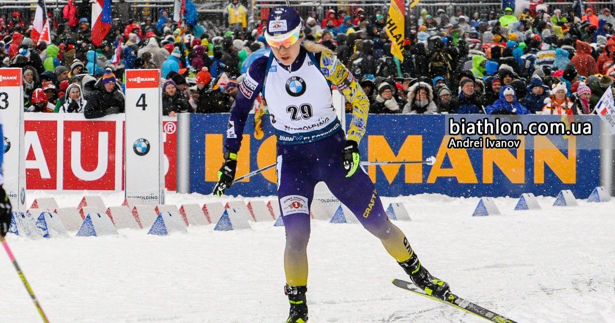 Втратила лідерство: українку Джиму підвела стрільба в останній гонці біатлонного сезону