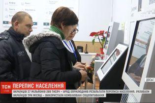 Правительство обнародовало результаты переписи населения Украины