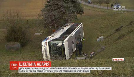 Двое детей погибли в результате аварии с участием школьного автобуса в Германии